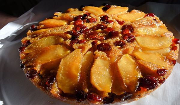 Cranberry Apple Johnnycake
